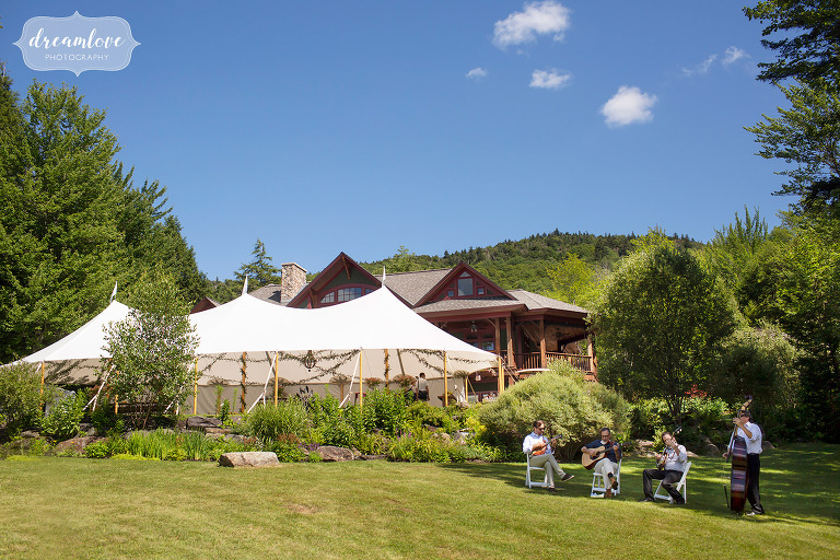 Tented mini wedding at Stowe Meadows in VT.