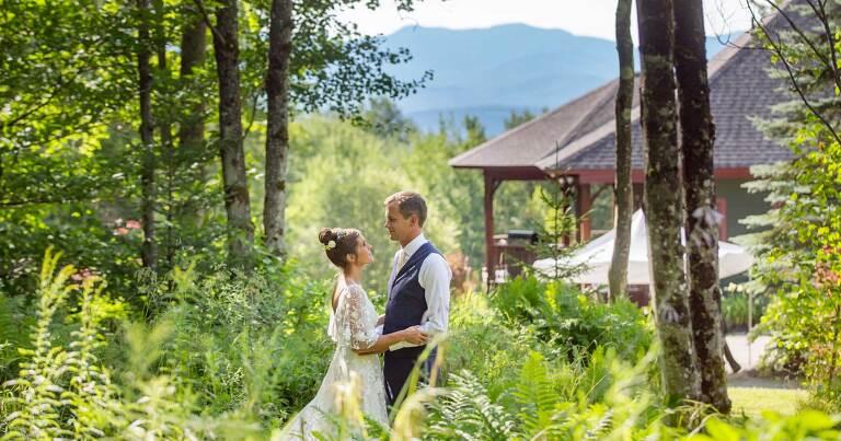 bride and groom stowe vt