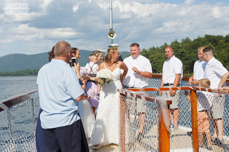 Just married on the Horicon Boat.