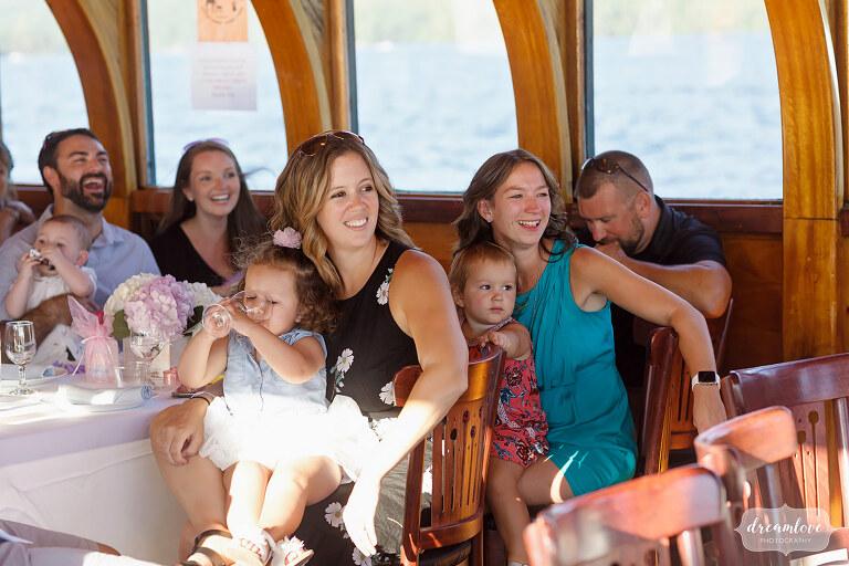 LG wedding reception on Horicon boat.