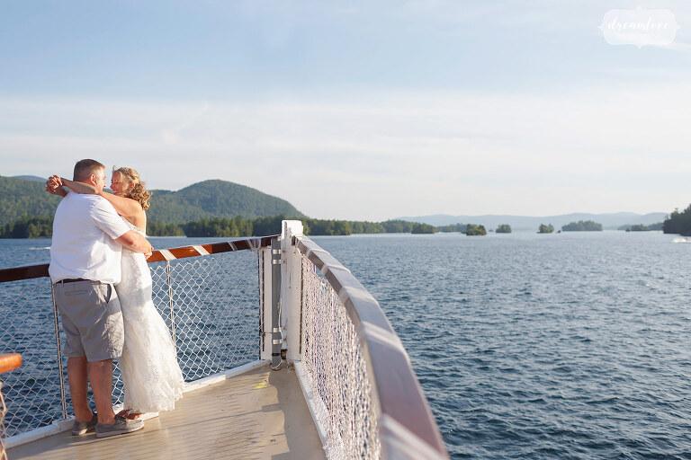 Romantic wedding venue on Horicon Boat on Lake George.